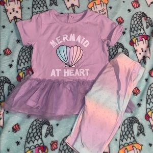 Infant 2pc mermaid at heart 18m